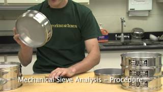 Particle Size Analysis (Sieves and Hydrometer)