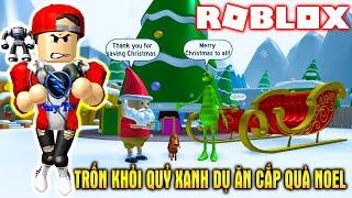 ROBLOX | Tìm Cách Thoát Khỏi Quỷ Xanh Ăn Cắp Quà Noel | The Grinch Obby | Vamy Trần