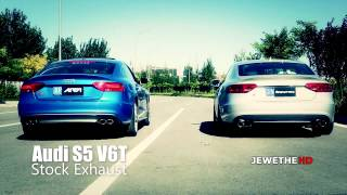 EXTREMELY LOUD Audi S5 V6T w  ARMYTRIX Valvetronic Exhaust! REVS, Accelerations and more! 1080p HD