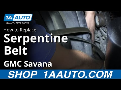 How To Install Replace Engine Serpentine Belt Chevy Express GMC Savana 6.0L
