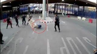 Nigger Gorilla Muzzie Attacks Spanish Cops
