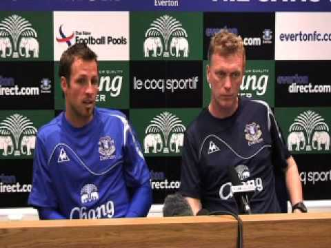New signing Lucas Neill unveiled at Everton FC