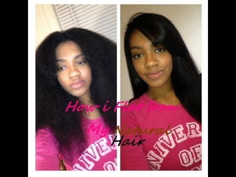 How i Flat Iron my Natural Hair!!!