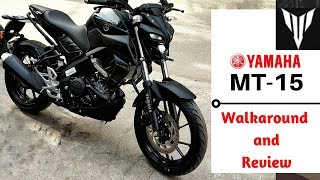 Yamaha MT15 better than R-15 ? Walkaround with Exhaust Sound | Ujjwal Saxena