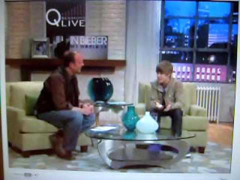 Justin Bieber live interview at QVC