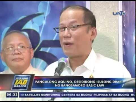 Pangulong Aquino, desididong isulong ang draft ng Bangsamoro Basic Law