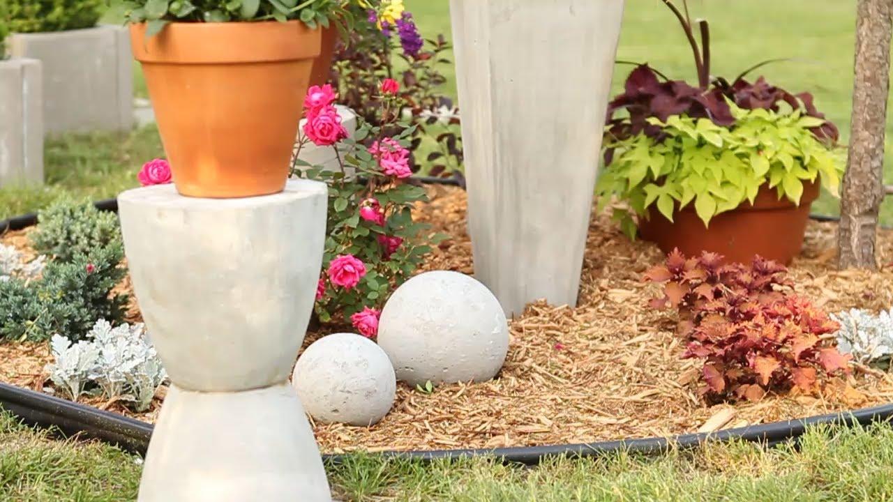 DIY Concrete Garden Ornaments YouTube