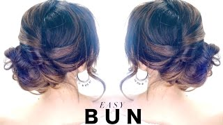 3-Minute Elegant SIDE BUN Hairstyle ★ EASY Summer Updo HAIRSTYLES