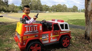 Fire Engine Ride On Paw Patrol With Fun CKN Toys