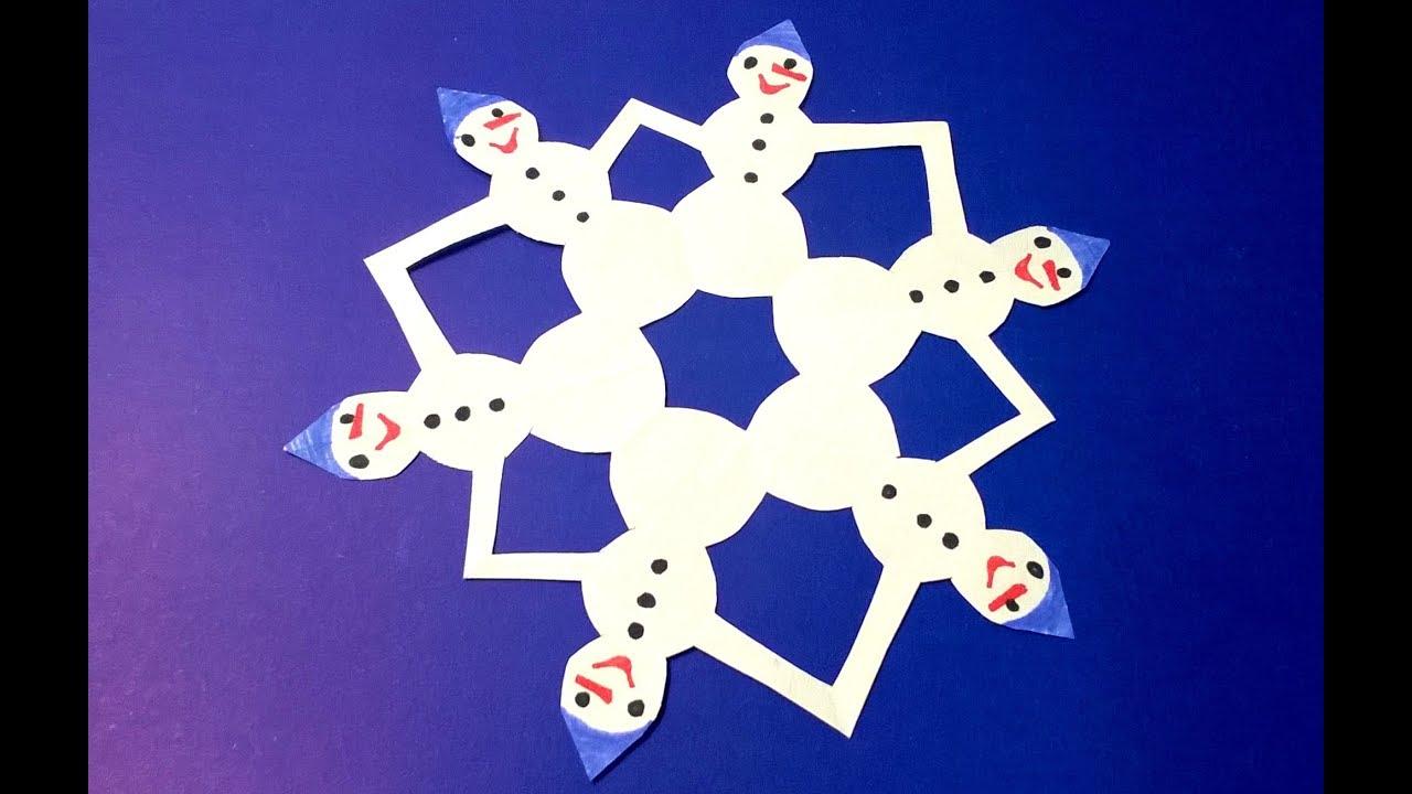 Снежинки своими руками с детьми 33