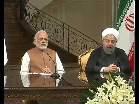 PM Modi at the Joint Press Statement between India & Iran in Tehran
