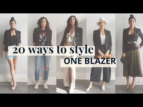 Blazer Outfit Ideas, 1 Blazer, 20 Ways! | Styling Closet Essentials | Slow Fashion - YouTube