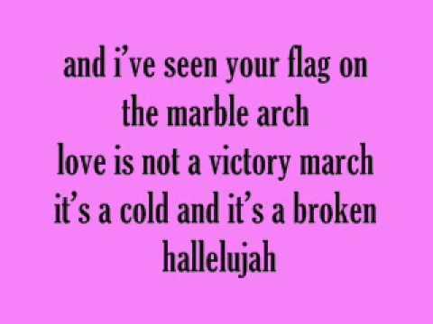 Kate voegele Hallelujah Lyrics