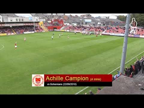 Goal: Achille Campion (vs Bohemians 22/09/2018)
