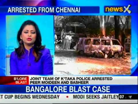 Bangalore Blast case: Police arrests two men in Tamil Nadu