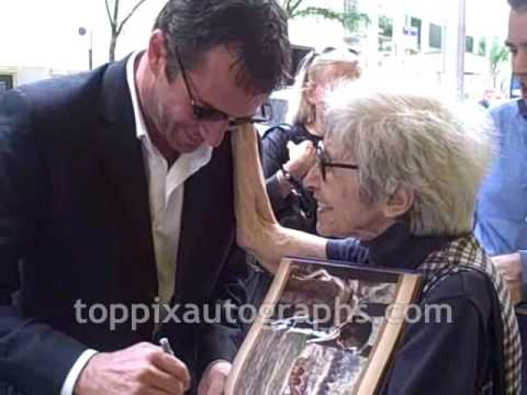 James Purefoy - Signing Autographs at Late Night with Jimmy Fallon in NYC Video