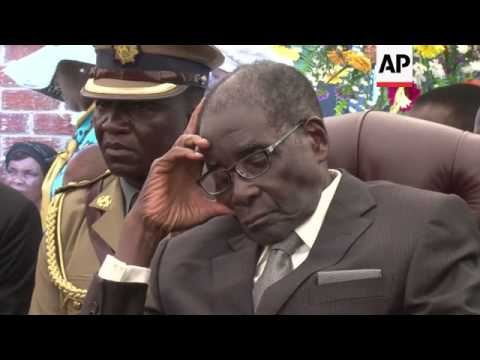 President Mugabe attends sister's funeral, comments on his own longevity