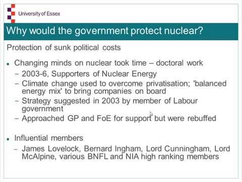 Graham Walker How and why Fukushima did not change British energy policy. PROPAGANDA