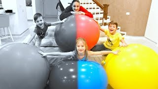 Balloon Songs | Kids Play with Mommy | Family Fun | Kids and Children