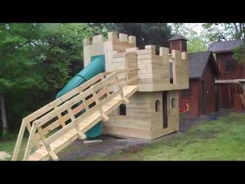 Castle playhouse plans blueprints youtube for Castle bed plans pdf