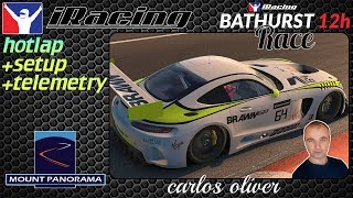 Iracing Hotlap @Bathurst 12h/ Race Lap/ Mercedes GT3// setup+telemetry 2:02,883 Carlos Oliver