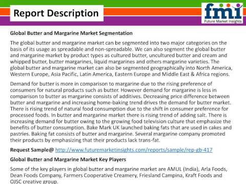 Butter and Margarine Market to 2025 by FMI