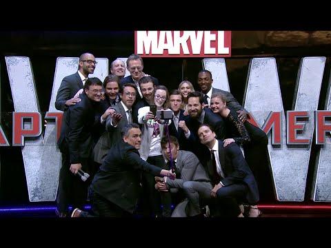Robert Downey JR and the Marvel Cast on Captain America:Civil War