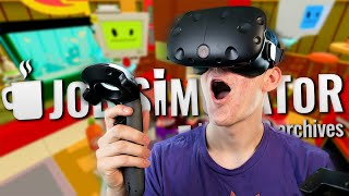 THE FUTURE IS HERE | Job Simulator (HTC Vive Virtual Reality)