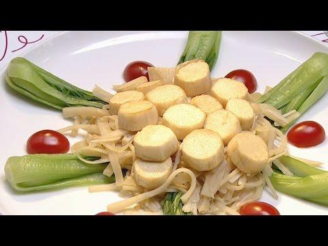 現代心素派-20141009 香積料理 - 瑤柱扒時蔬、栗子燒烤麩 - 在地好美味 - 青靜緣