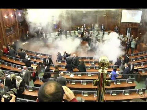 Kosovo MPs tear-gassed in Parliament, second time a week