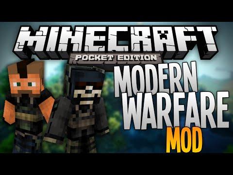 MODERN WARFARE MOD!!! - Adds Weapons to MCPE! - Minecraft Pocket Edition