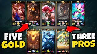 3 PRO PLAYERS VS. 5 GOLD PLAYERS FT. BUNNYFUFUU (40+ KILLS) *INSANE DIFFICULTY*  - League of Legends
