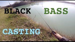 Casting Invernale al Black Bass in Lago