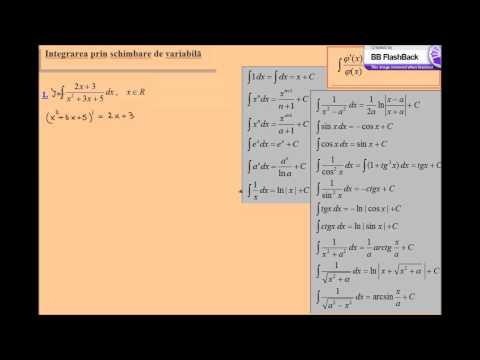 Integrale rezolvate, schimbare de variabila (lic_schimbarevar_ex5)