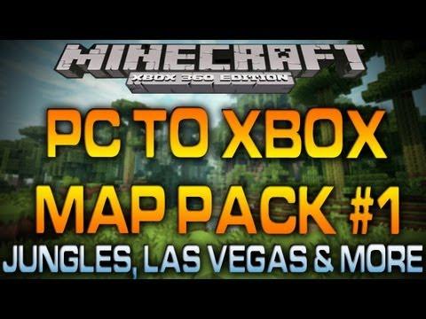 Minecraft Xbox - PC MAP PACK #1 (Jungles, Las Vegas, Jurassic Park & More)