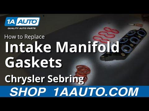 How To Install Replace Intake Gaskets Dodge Chrysler 2.7L V6 2001-06 Sebring