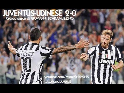 JUVENTUS-UDINESE 2-0 - Radiocronaca di Giovanni Scaramuzzino (13/9/2014) da Radiouno RAI