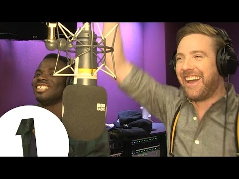 Ricky Wilson, Greg James and Emmanuel Nwamadi sing Ruby