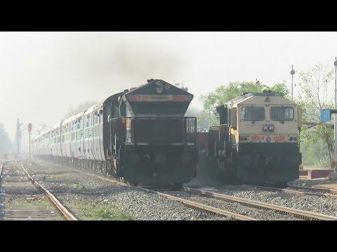 Daylight Diesel Thunder : Angry EMD : UBL WDG4 Knocks Jhulasan with Bangalore - Jodhpur Express