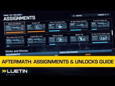 Battlefield 3 Aftermath: Guide to Assignment unlocks with Luetin