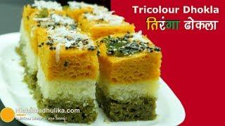 Tiranga Sandwich dhokla   Tricolour Dhokla Recipe
