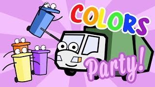 Colors Songs & Learning Colors Song W/ Munchie the Garbage Truck! Colors Party - Learning Videos :)