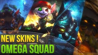 ALL 4 NEW OMEGA SQUAD SKINS - Fizz Tristana Twitch Veigar | League of Legends
