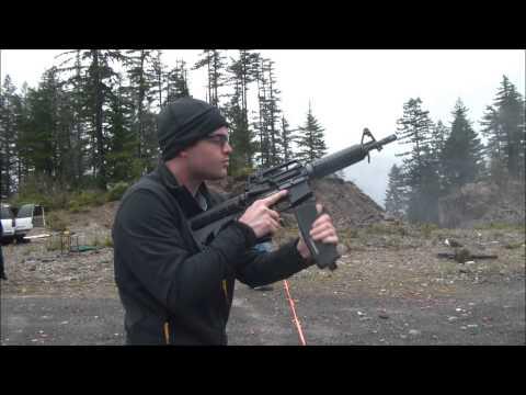 Full Auto M4 - Suppressed 9mm AR - Tannerite