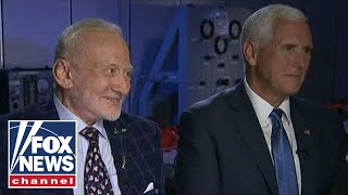 Pence, Buzz Aldrin talk about the future of space exploration
