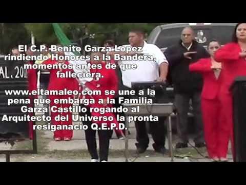 CP BENITO GARZA LOPEZ RINDIENDO HONORES EL 20 DE NOVIEMBRE DEL 2014