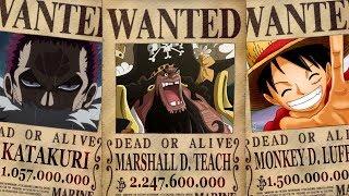 Las 10 RECOMPENSAS Más ALTAS de One Piece   (Hasta el capitulo 927 del manga)