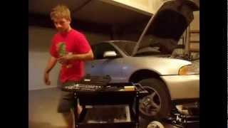 2001 Audi A4 1.8t Quattro Oil Pan Replacement.
