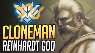 "BEST OF ""CLONEMAN16"" - RANK 1 REINHARDT GOD (Overwatch Reinhardt Montage & Esports Facts)"