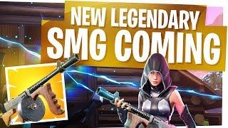 New SMG Hybrid Drum Gun on the Way! - Fortnite New Legendary Tommy Gun